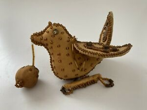 Antique, NATIVE AMERICAN, IROQUOIS Beaded BIRD, Pin Cushion