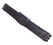 cinturino vera pelle x orologi SWATCH blu stampa lucertola ansa 15/18 MM