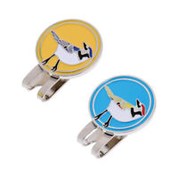 2pcs Golf Ball Marker Magnetic Hat Clip Stylish Cap Clip Gift Poker Card