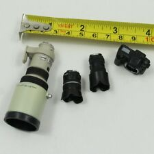 "Nero 1//6 fotocamera modello Single Lens Reflex con tre lenti per 12/"" ACTION FIGURE doll"