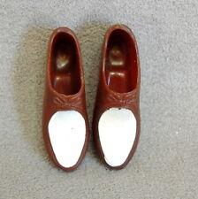 Barbie Ken 1960s Shoes Vintage Soft Spongy Brown White Loafers Japan Mattel