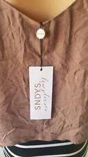 NWT SNDYS Ladies Tuape Crop Lined Sleeveless Top Size: XL/14