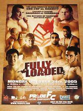 Pride FC 30 POSTER-crocop VS BARNETT Fabricio werdum SAKURABA Rampage UFC MMA