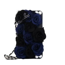 Rose Bling Pearl Flower Leather Wallet Purse Case For iphone X 8 7 6 PLUS 5S 5