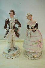 CORDEY PORCELAIN FIGURINES VINTAGE LADY & MAN 5003 ARTICULATED HANDS STATUE