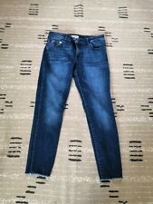 DL1961 Full Length Skinny Floreance Jeans Women Size 28 Solid Blue Wash Denim