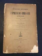 [11088-B1] Polain Alphonse Recherches Historiques épreuve Armes à feu Liège 1891
