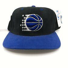 Vintage 1990 CHAMPION NBA Orlando Magic 2 Color Brush Twill Hat Cap Snapback
