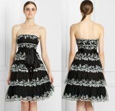$498 BCBG Maxazria Tiered Embroidered Dress   4