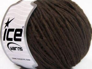 Coffee Brown Wool Cord #59799 Ice Wool Acrylic Yarn 50 Gram 109 Yards