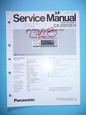 MANUAL DE Manual de servicio para Panasonic cx-d200en, original
