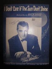 I Dont Care If The Sun Dont Shine Sheet Music Vintage 1949 Mack David Martin (O)