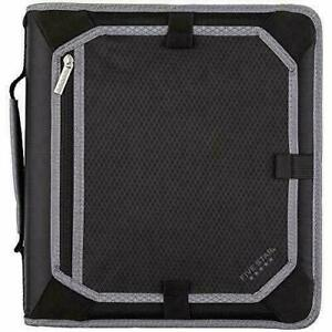 """Five Star Zipper 3-Ring Binder With Expansion Panel, 2"""" Round Rings"""