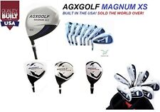 MEN'S LEFT HAND MAGNUM XS GOLF CLUB SET wGRAPHITE WOODS+HYBRID+TOUR IRONS+PUTTER