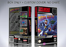 MEGAMAN X. NTSC VERSION. Box/Case. Super Nintendo. BOX + COVER. (NO GAME)