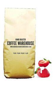 Strawberries & Cream Flavoured Coffee 100% Arabica Beans Freshly Roasted in UK!