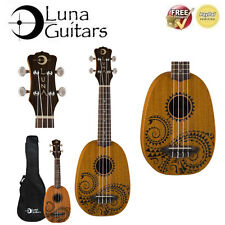 LUNA Guitars Tattoo Pineapple Soprano Ukulele Mahogany. Is