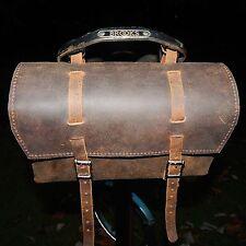XL Real Leather Saddle Bag for long seatpost folding bikes BROMPTON DAHON TERN