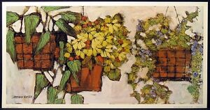 "Lawrence Reiter ""Hanging Plants"" Offset Lithograph ART, Submit your Best Offer"