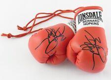 Autografiada Mini Guantes De Boxeo Bernard Hopkins