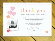 15 Personalised Thank You Notes Naming Day Christening Birthday