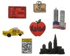 Jesse James Buttons  - Dress It Up - DESTINATION - NEW YORK ~ Taxi ~ Twin Towers