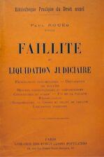 ++PAUL ROUÉ faillite et liquidation judiciaire PUBLICATIONS POPULAIRES rare++