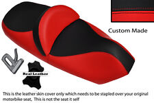 RED AND BLACK CUSTOM FITS PIAGGIO X9 125 250 500 DUAL LEATHER SEAT COVER