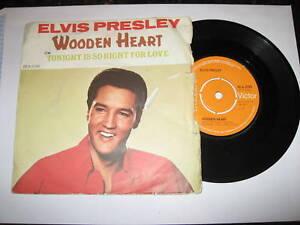 """ELVIS PRESLEY - Wooden Heart - 1977 UK orange RCA 7"""""""