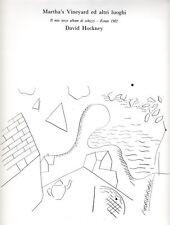 HOCKNEY, Martha's Vineyard ed altri luoghi. Il mio terzo album di schizzi, 1986