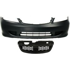 Bumper Cover Kit For 2004 2005 Honda Civic Front 2pc With Grille Fits 2004 Honda Civic
