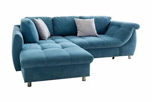 Ecksofa mit Schlaffunktion Eckcouch Eckgarnitur Polsterecke Couch Sofa 39156