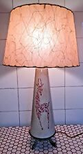 Vintage 1950s 50s California Crafts Fiberglass Shade Pink Tile Giraffe Lamp