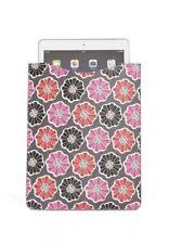 Vera Bradley Slim Tablet Sleeve Blossoms Pattern Pink Grey Textured PVC