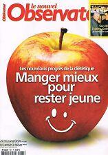 Le Nouvel Observateur   N°1981   24 Au 30 Octobre 2002: manger mieux pour rester