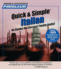 Pimsleur Italian Quick & Simple Course - Level 1 Lessons 1-8 CD: Learn to Speak and Understand Italian with Pimsleur Language Programs by Pimsleur (CD-Audio, 2002)