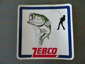 Vintage Mint Zebco Fishing Sticker - 4 1/2 x 4 1/2 inch