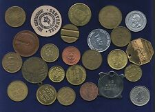 U.S.  ASSORTED TOKENS // MEDALS // PINS, GROUP LOT OF (25)