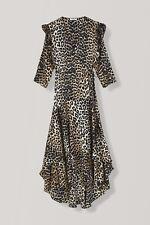 BNWT Ganni CALLA SILK WRAP DRESS £490  SIZE 6 UK
