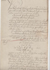 ANTIK Alte Handschrift Urkunde Gerichtsurkunde 1812 Sömerda