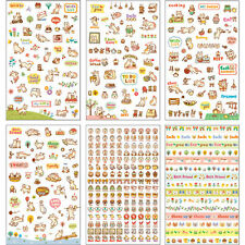 6 Sheets PVC Cute Cartoon Cat Paper Stickers for Diary Scrapbooking Crafts Hot