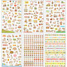 12 Sheets Cartoon Cat Scrapbook Diary Calendar Planner Decorative Paper Stickers
