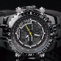 INFANTRY Herren Digital Analog Armbanduhr Uhr Herrenuhr Stoppuhr Datum Schwarz