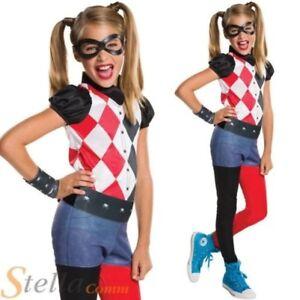 filles Harley Quinn Déguisement super héros DC COMICS enfant costume déguisement
