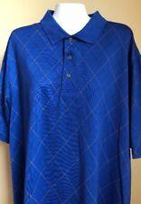 JOS A BANK leadbetter Golf Blue Short Sleeve Polo Shirt Size Large