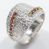 New fashion ring Jewelry Natural Garnet Gemstone 925 Sterling Silver / RVS60