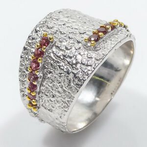 925 Sterling Silver handmade fine Art design Natural Garnet Gemstone  / RVS60