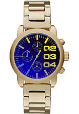 DIESEL DZ5467 FLARE CHRONOGRAPH GOLD TONE UNISEX STEEL  WATCH -  2 YRS WARRANTY