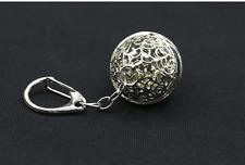 Key chain Keyring bag chain silver small bell   Charm Pendant Keyfob Keychain