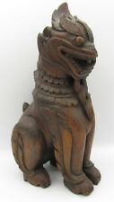 """Antique carved Chinese wood Foo Dog Dragon 11"""""""